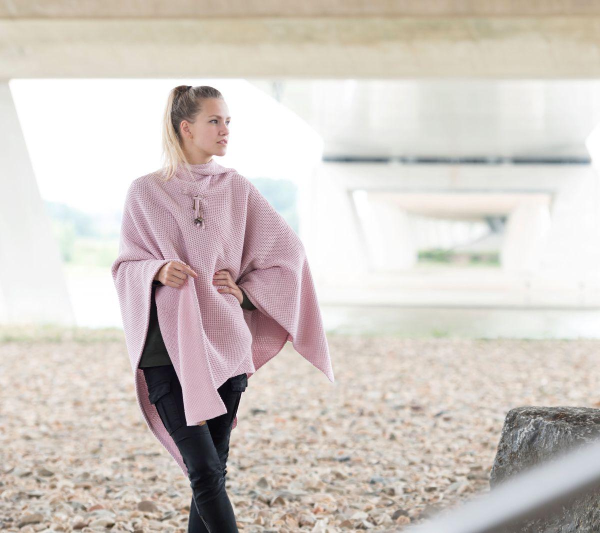 knit factory 1236121 jazz omslagvest roze 3