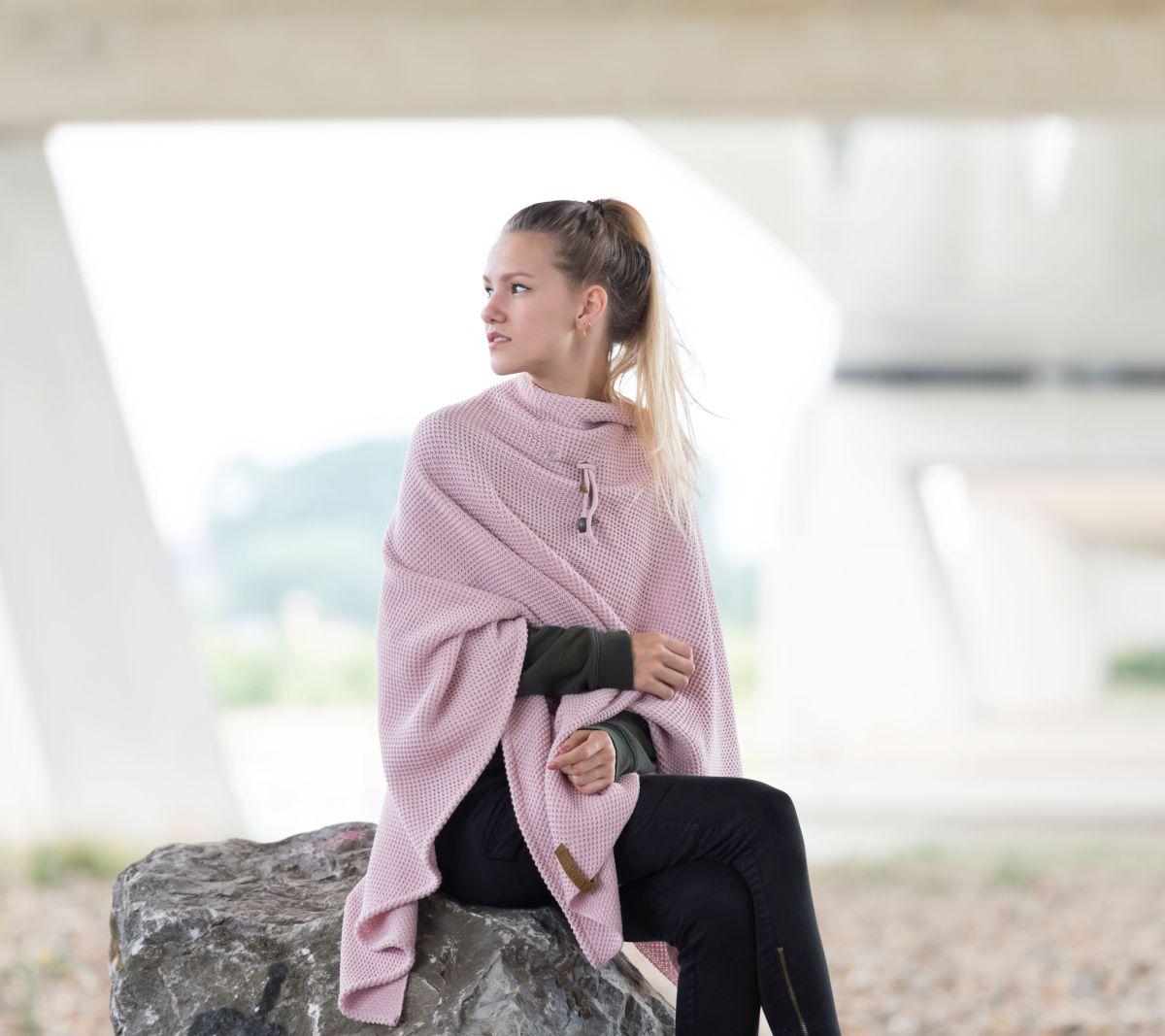 knit factory 1236121 jazz omslagvest roze 5