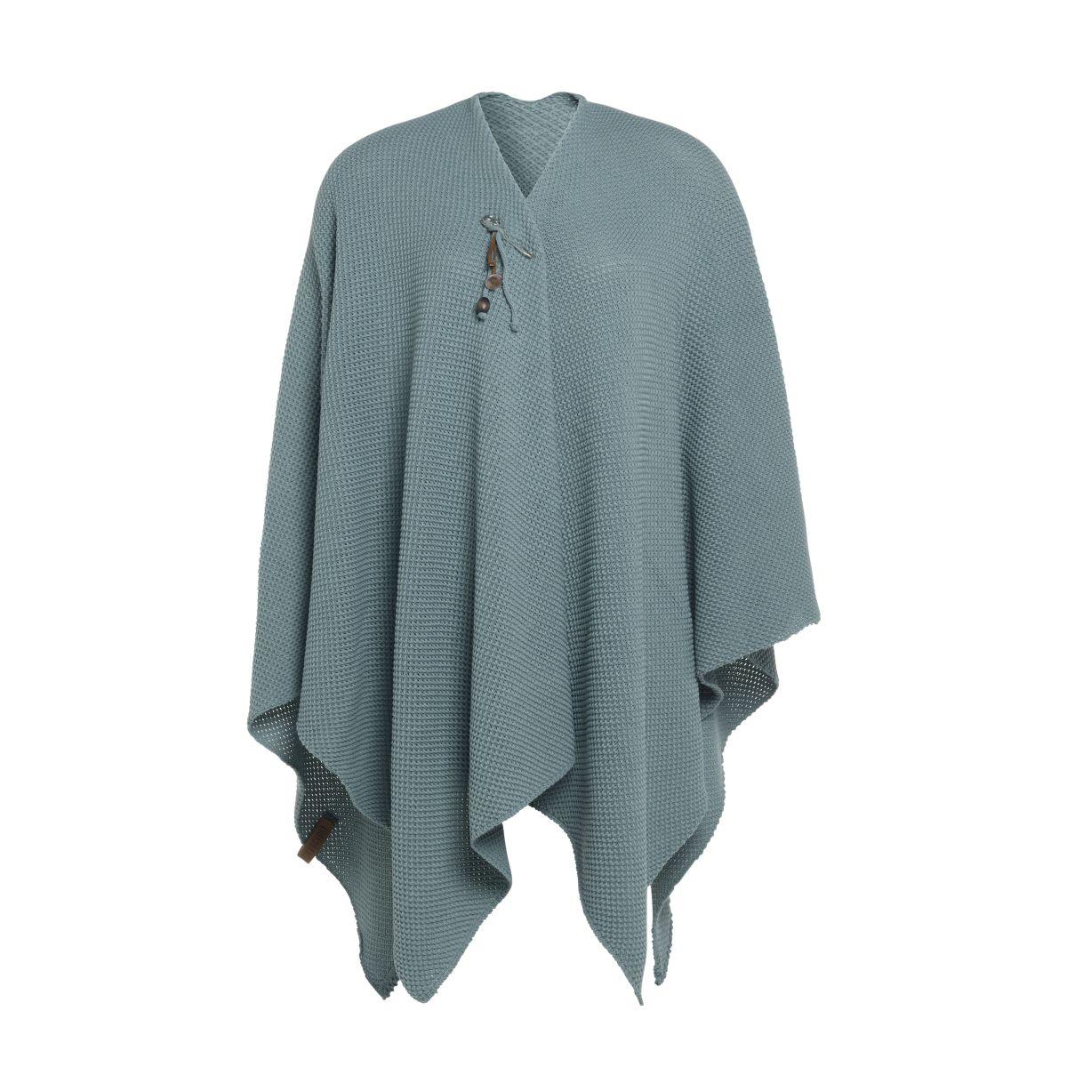 knit factory 1236109 jazz omslagvest stone green 1