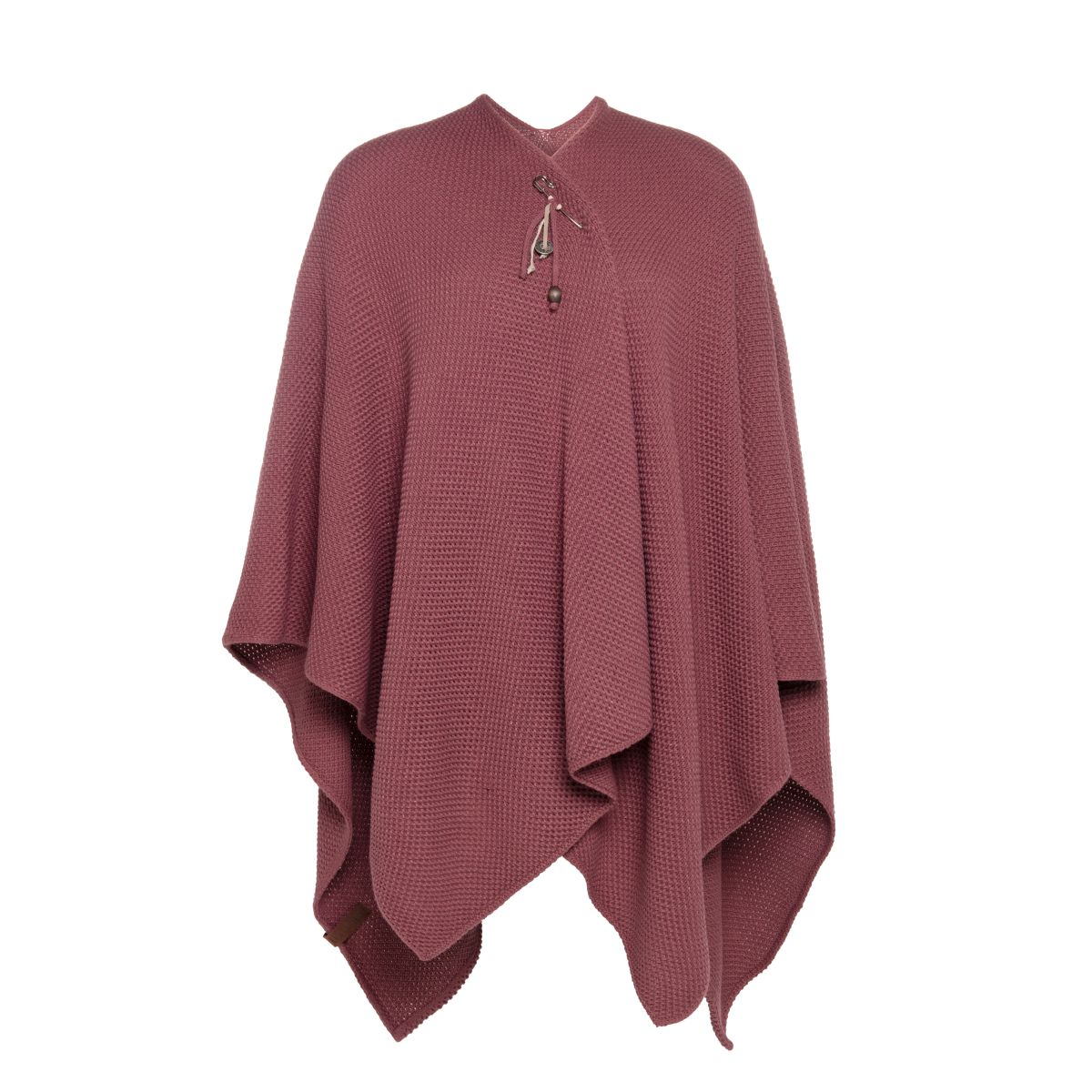 knit factory kf123061038 jazz omslagvest stone red 1