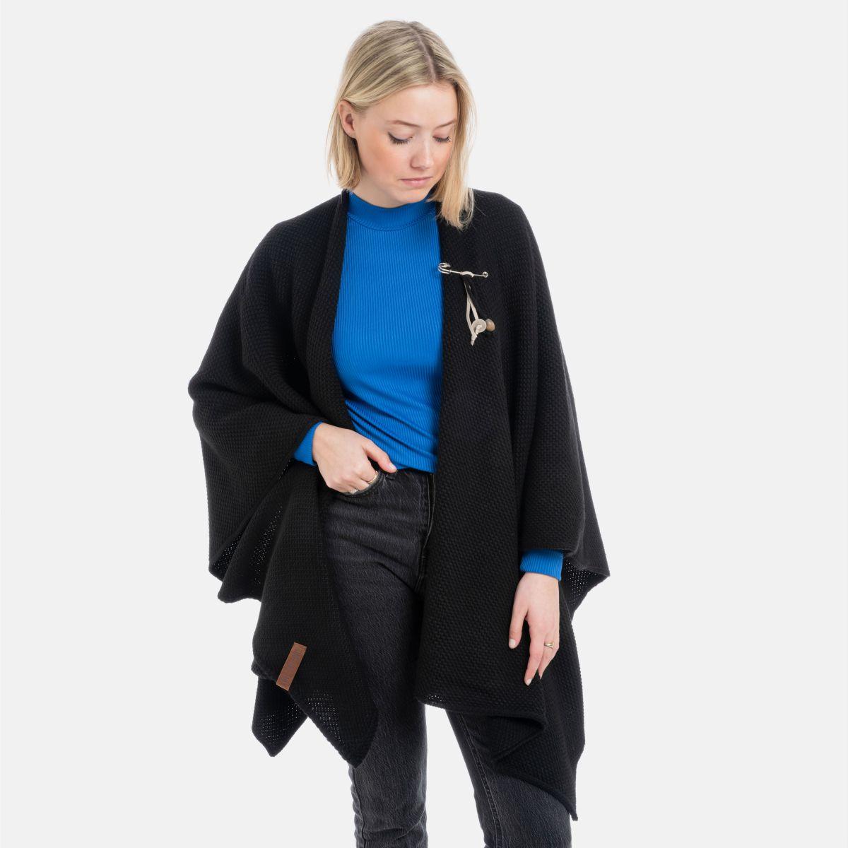 jazz poncho cape schwarz
