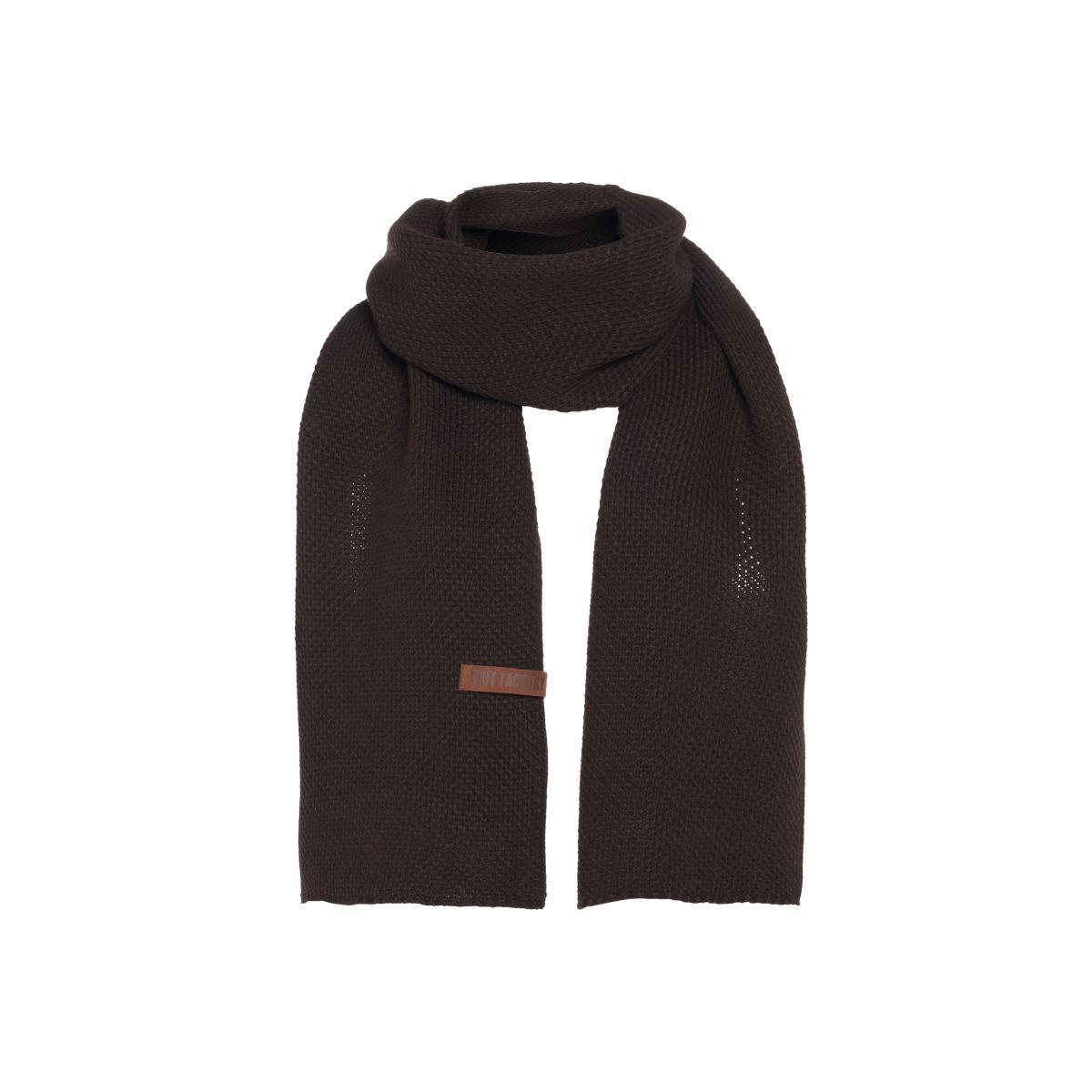 jazz scarf dark brown