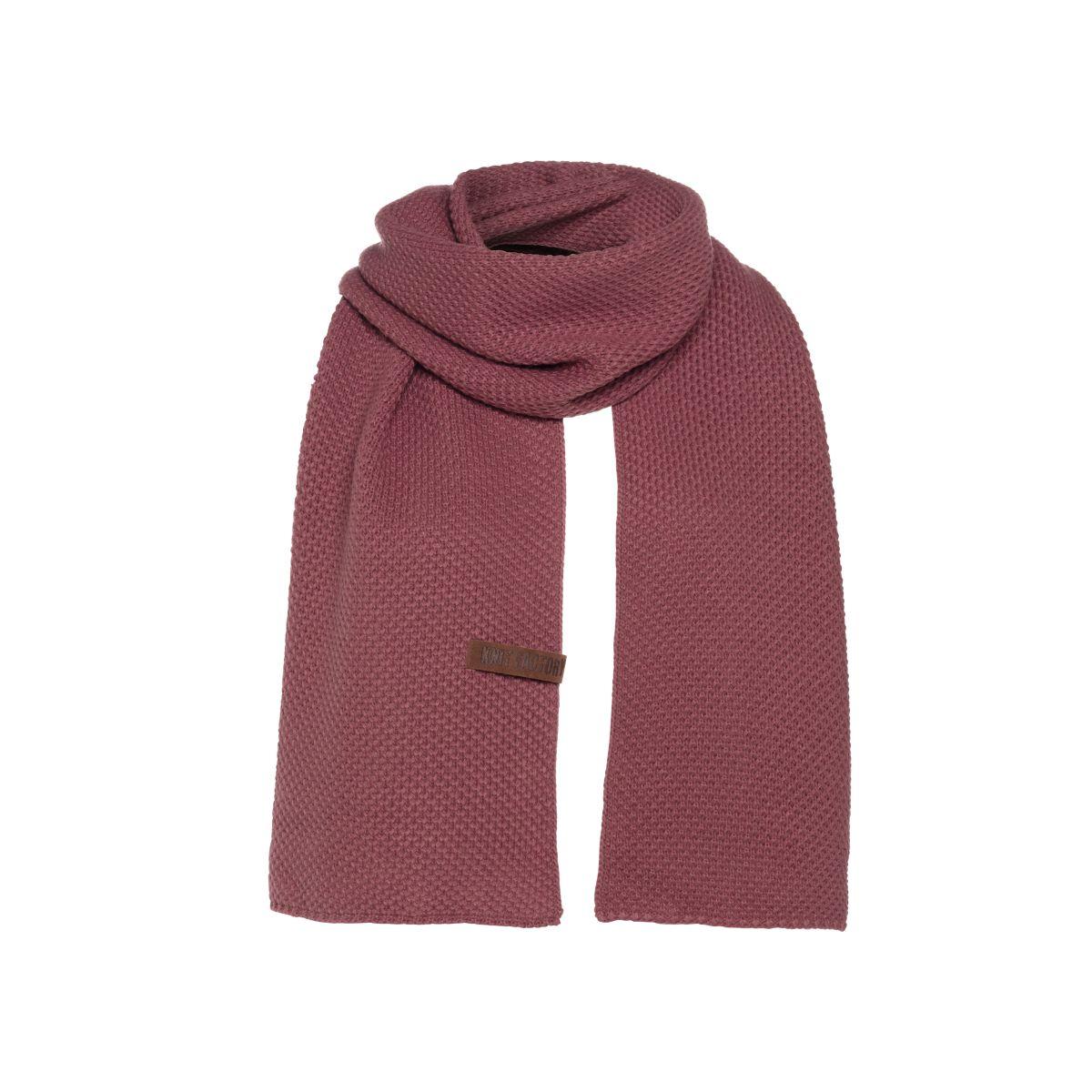 jazz scarf stone red