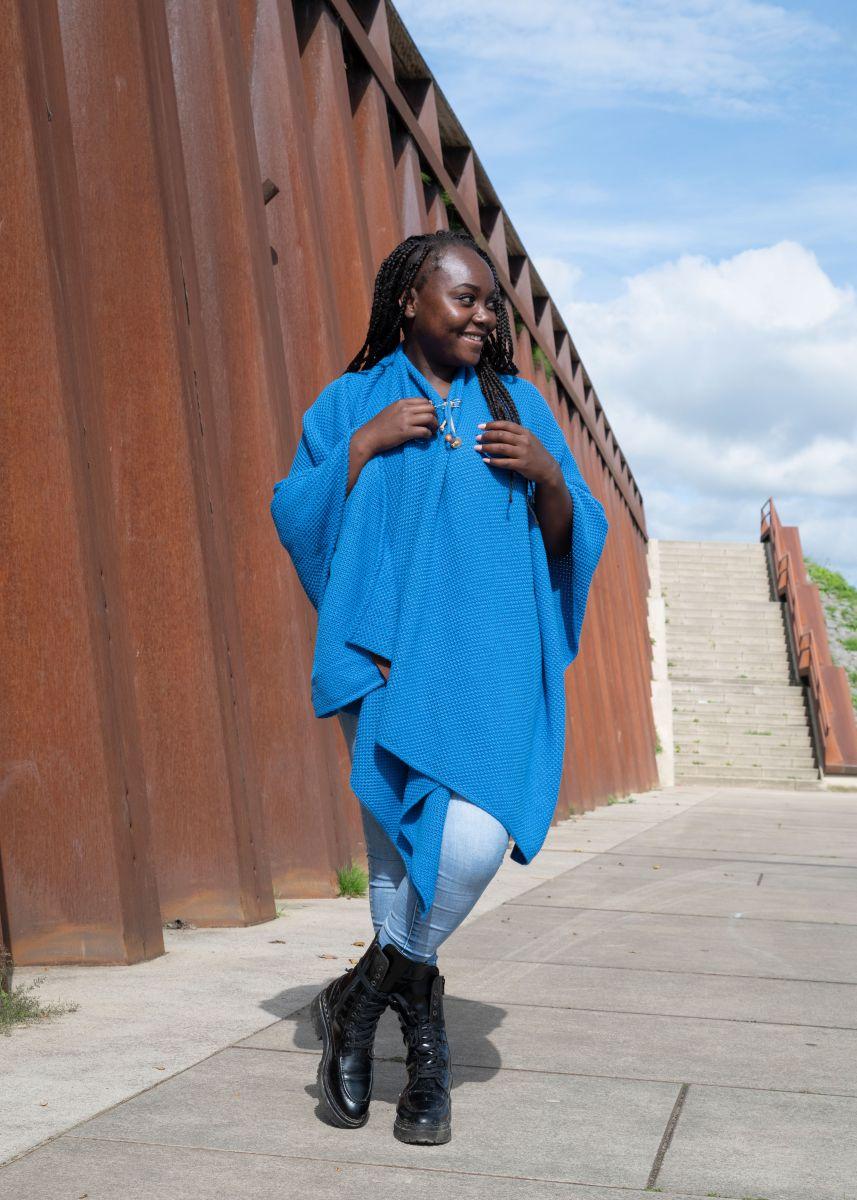 jazz shawl wrap cobalt