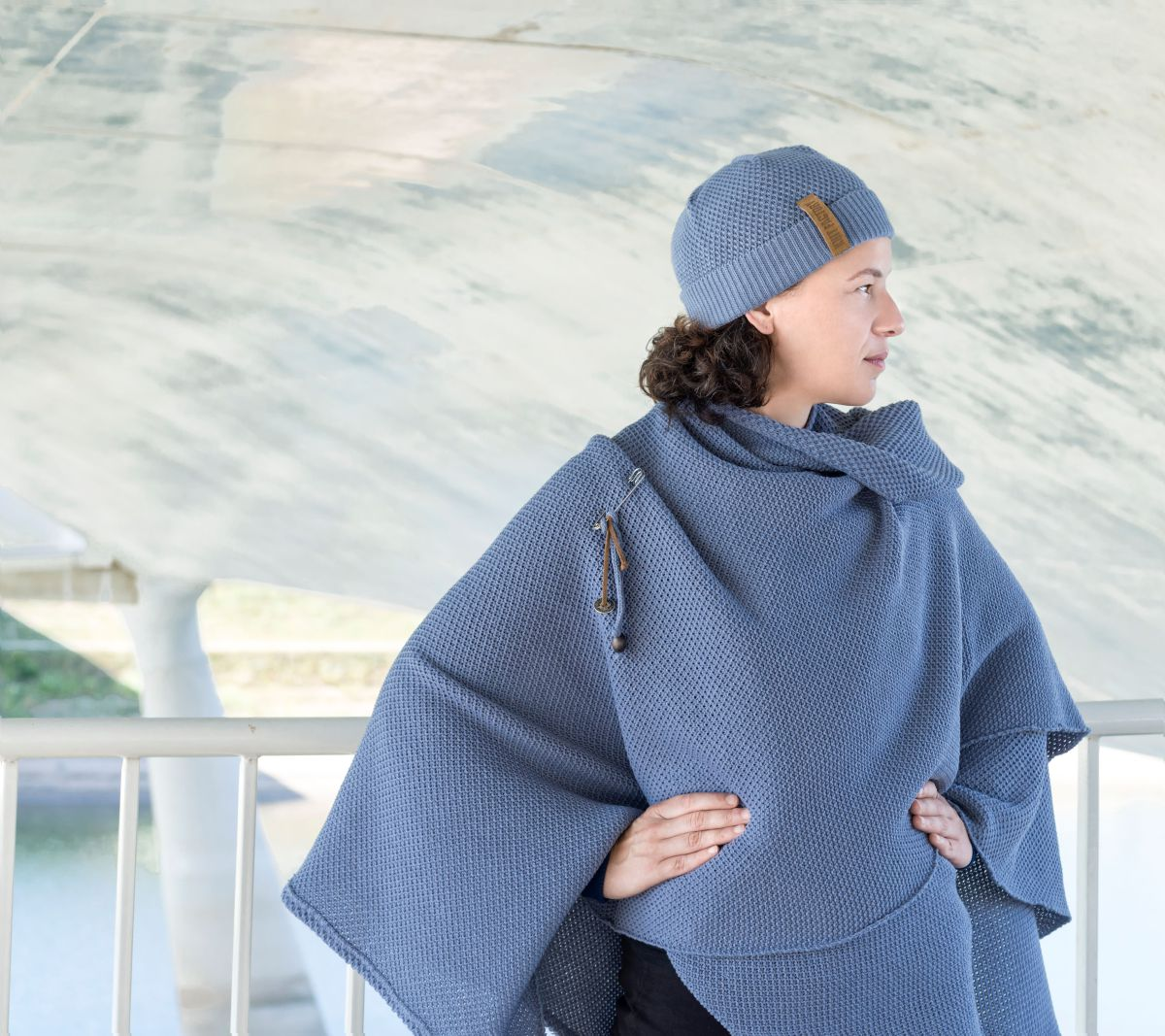 jazz shawl wrap indigo