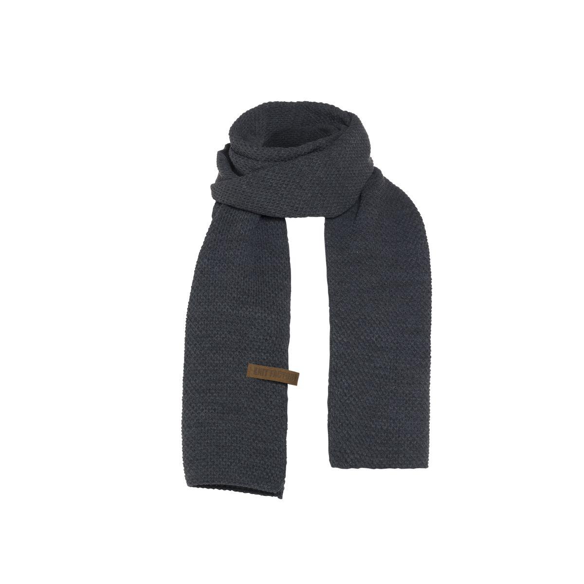 knit factory 1236510 jazz sjaal antraciet 1