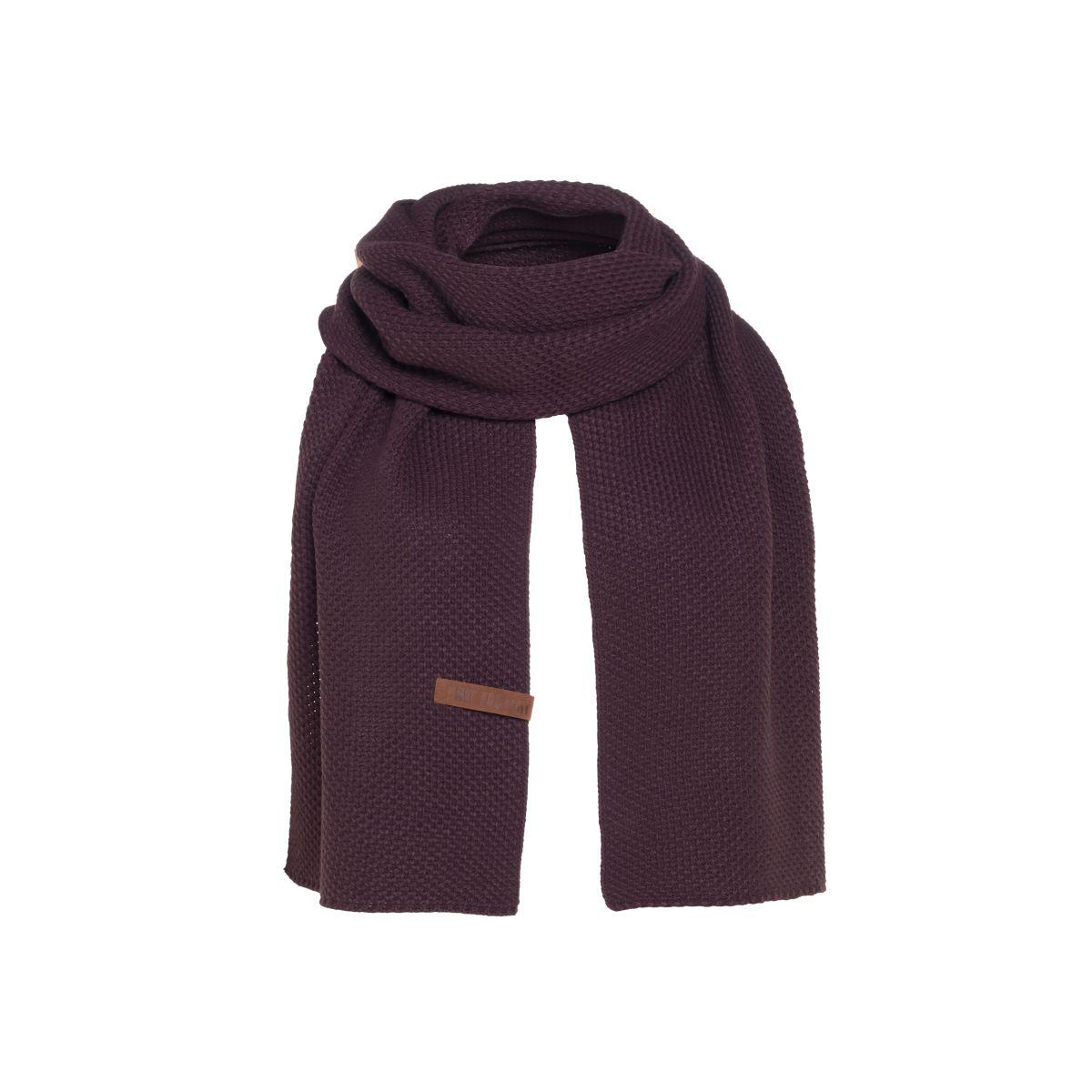knit factory kf123065023 jazz sjaal aubergine 1
