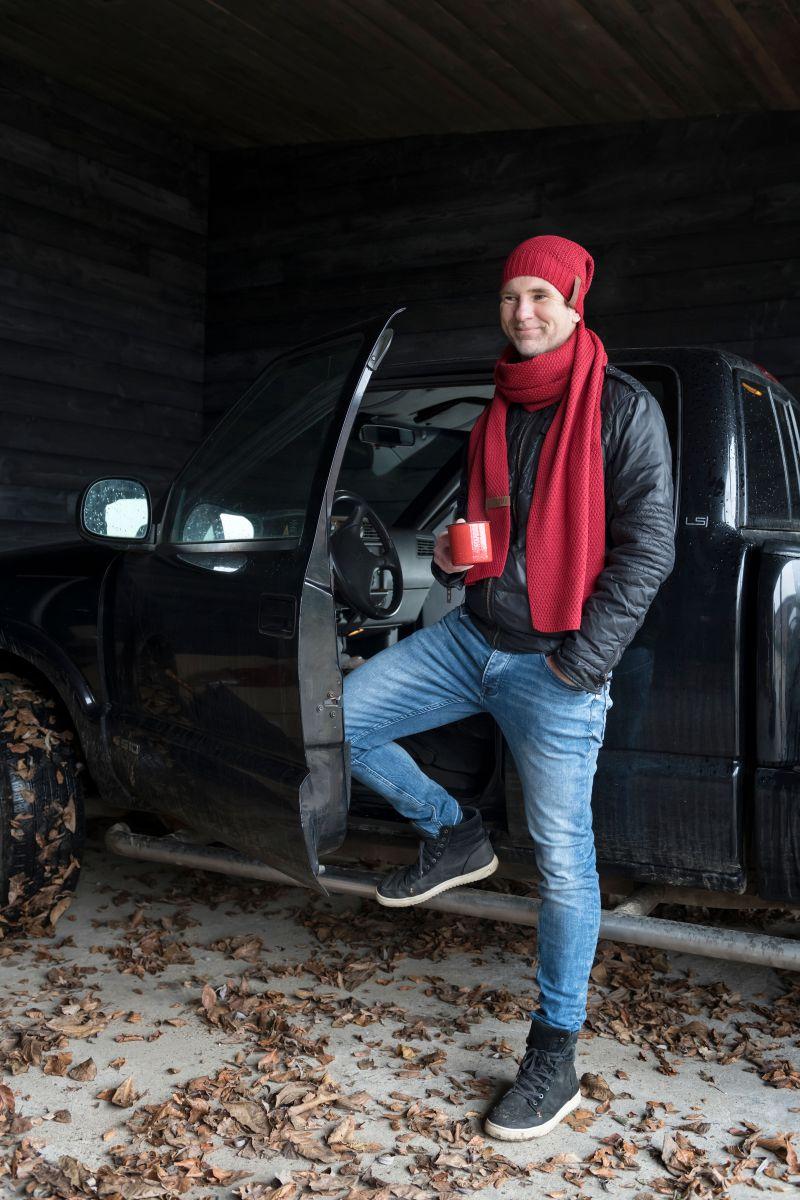knit factory 1236503 jazz sjaal bordeaux 3