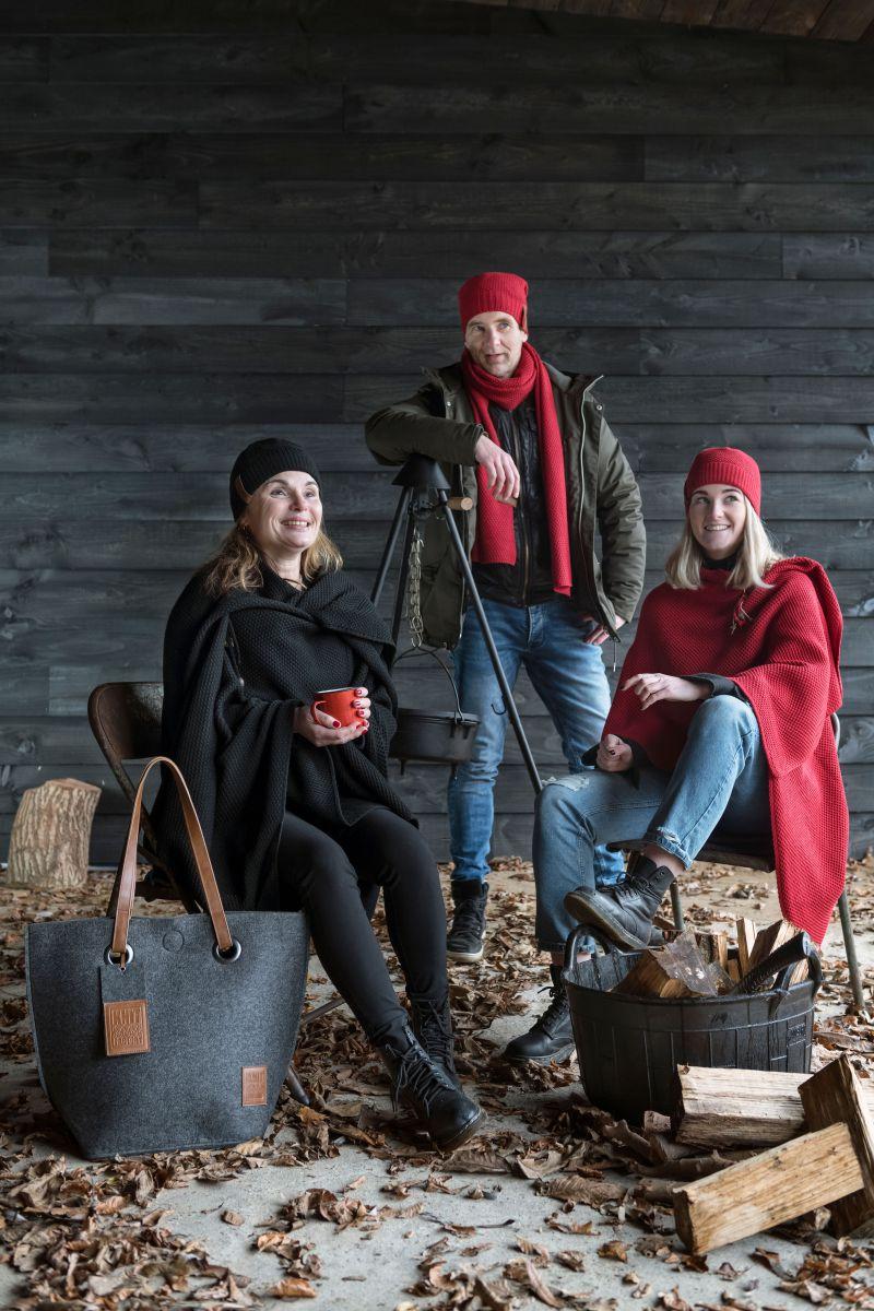 knit factory 1236503 jazz sjaal bordeaux 4