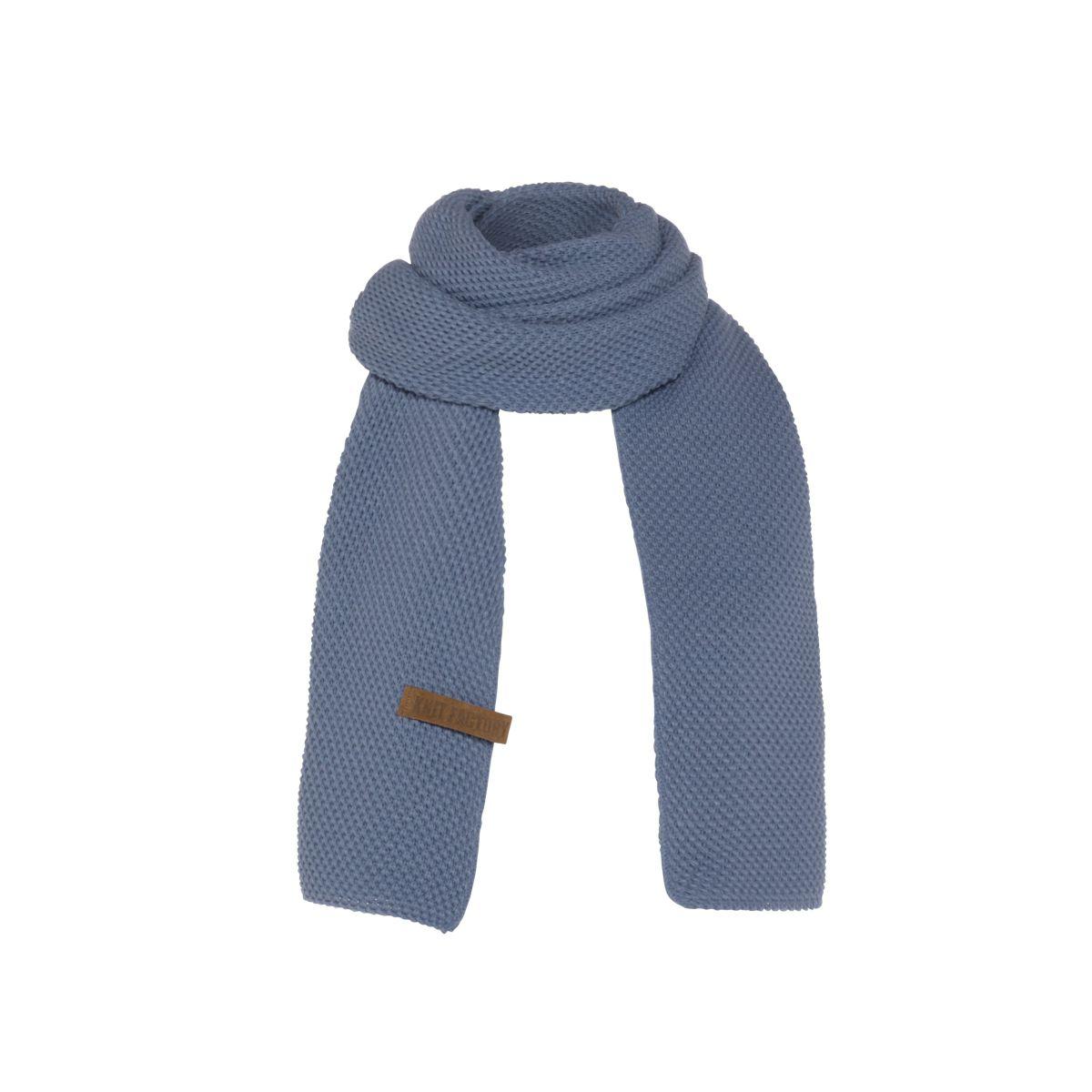 knit factory 1236532 jazz sjaal indigo 1