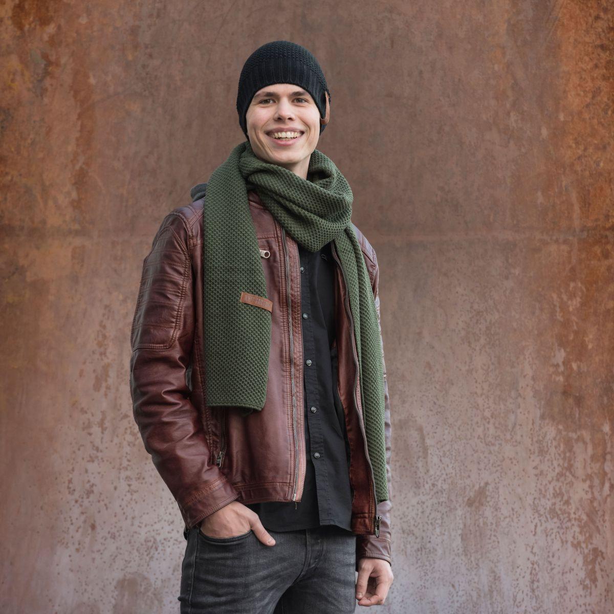 knit factory 1236525 jazz sjaal khaki 2