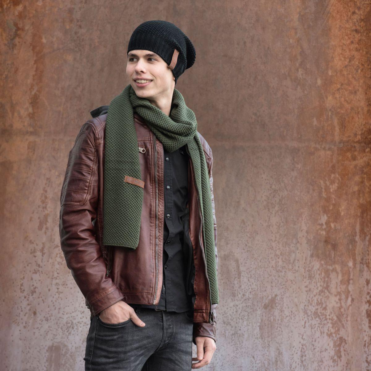knit factory 1236525 jazz sjaal khaki 3