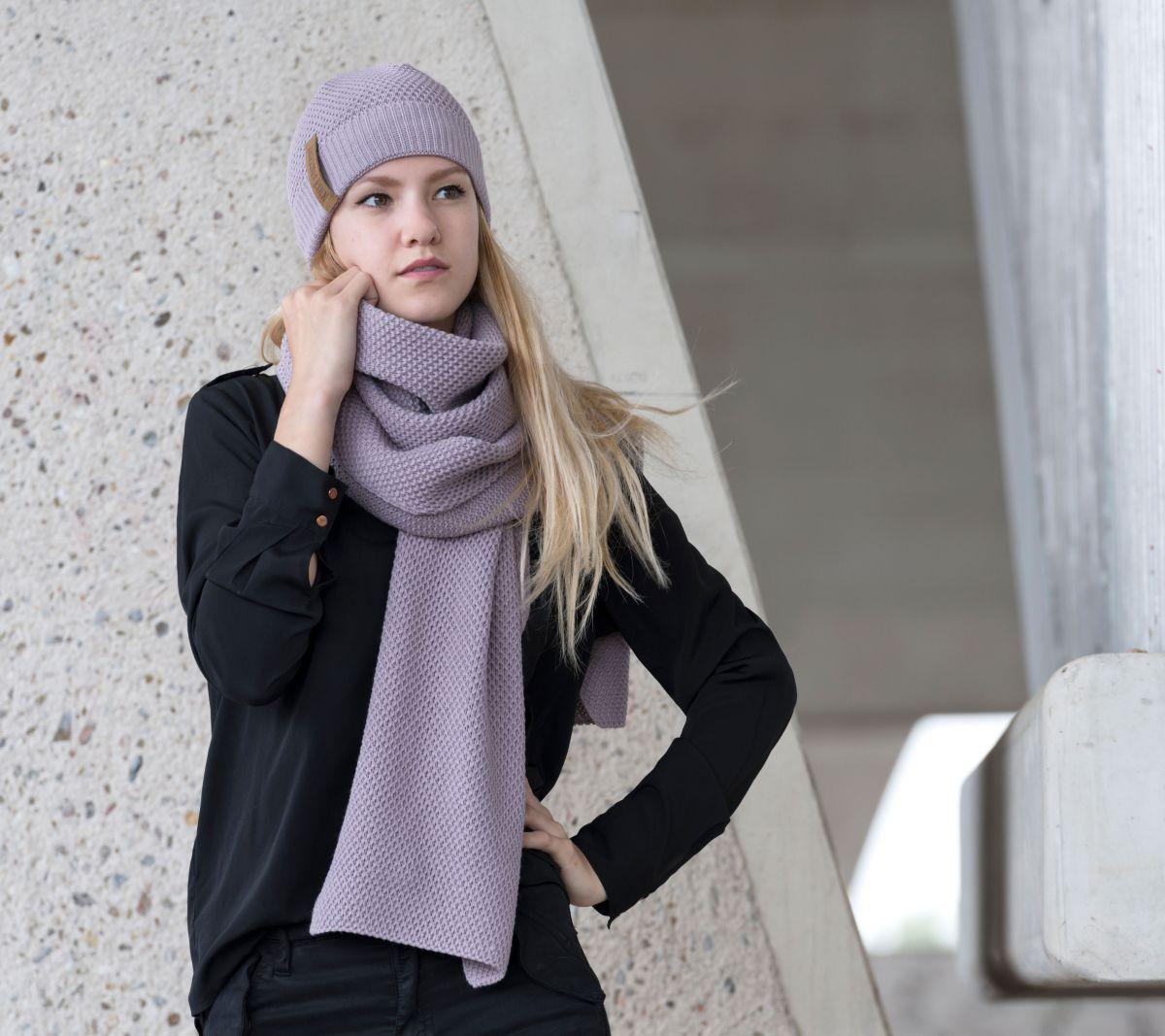knit factory 1236534 jazz sjaal mauve 2