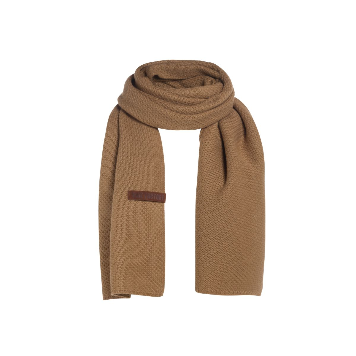 knit factory 1236520 jazz sjaal new camel 1
