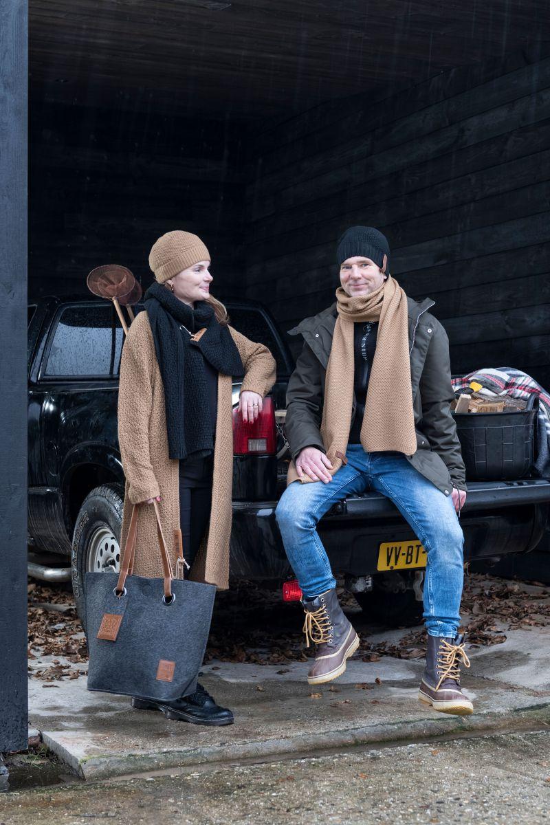 knit factory 1236520 jazz sjaal new camel 3