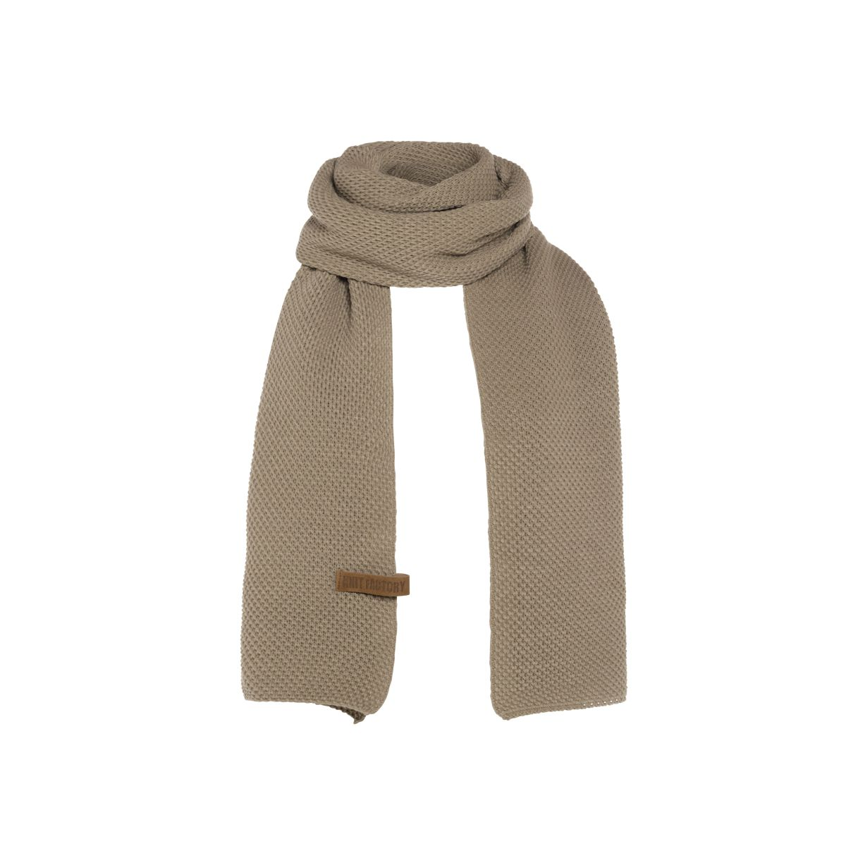 knit factory 1236533 jazz sjaal olive 1