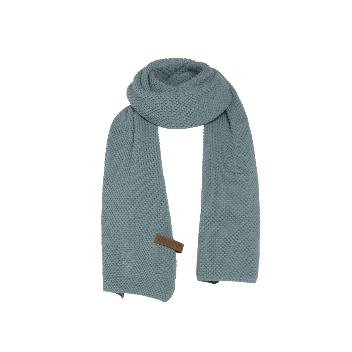 knit factory 1236509 jazz sjaal stone green 1