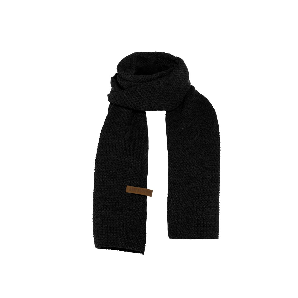 knit factory 1236500 jazz sjaal zwart 1