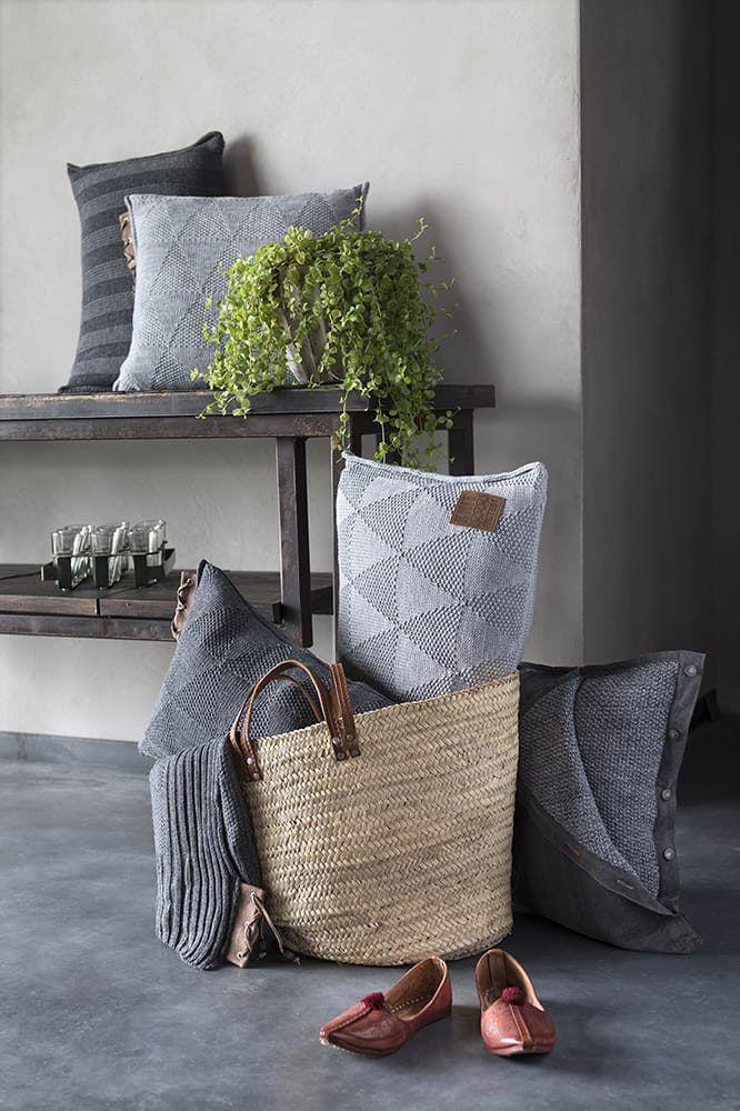jesse cushion stone green 60x40