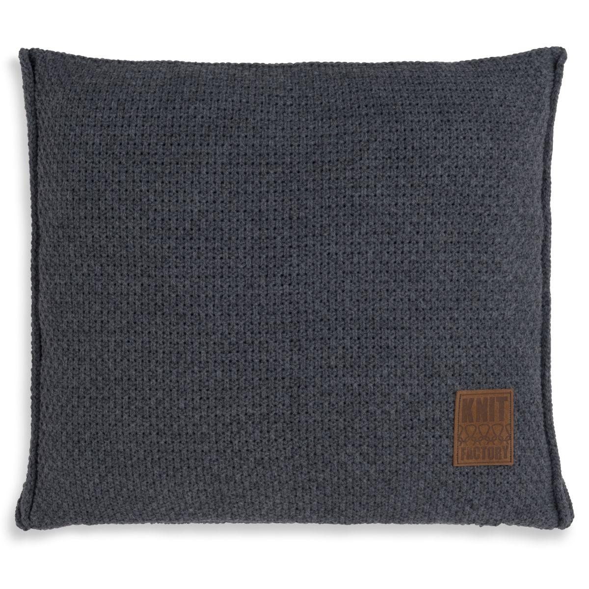 knit factory 1091210 kussen 50x50 jesse antraciet 1