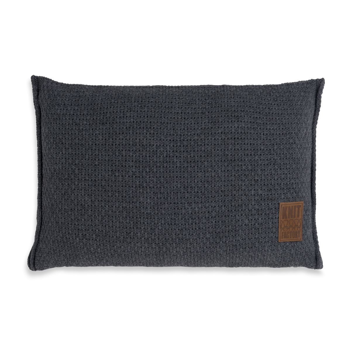 knit factory 1091310 kussen 60x40 jesse antraciet 1