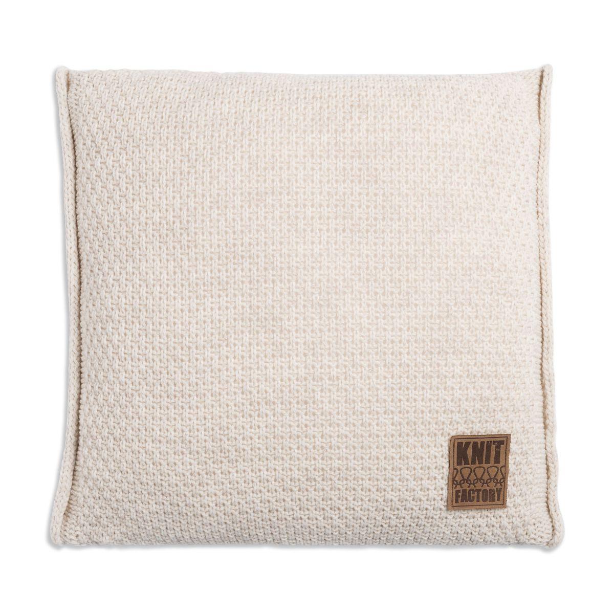 knit factory 1091212 kussen 50x50 jesse beige1