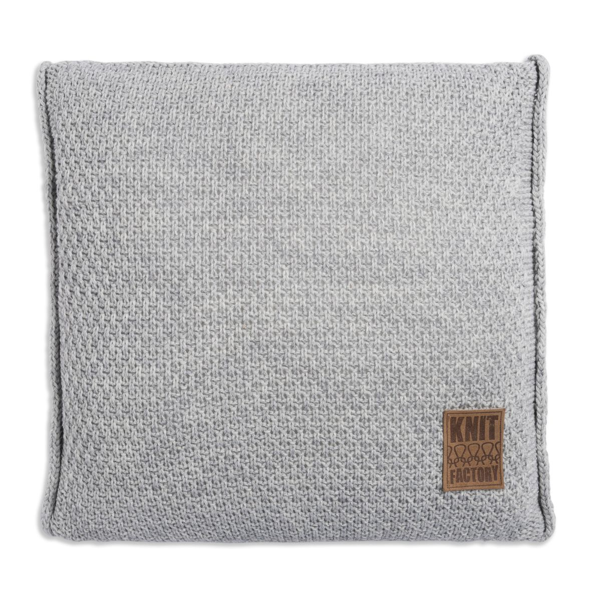 knit factory 1091211 kussen 50x50 jesse licht grijs1