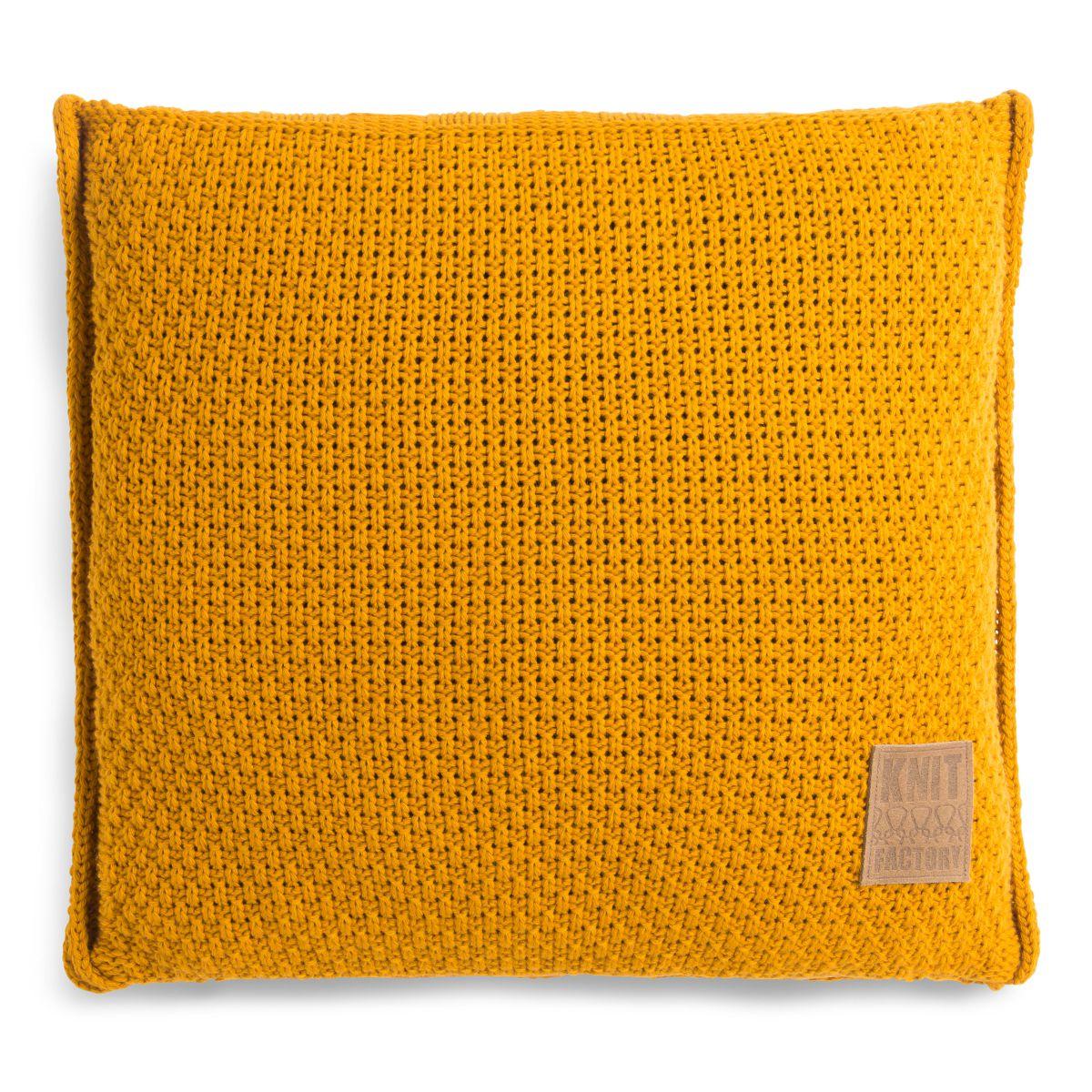knit factory 1091217 kussen 50x50 jesse oker1