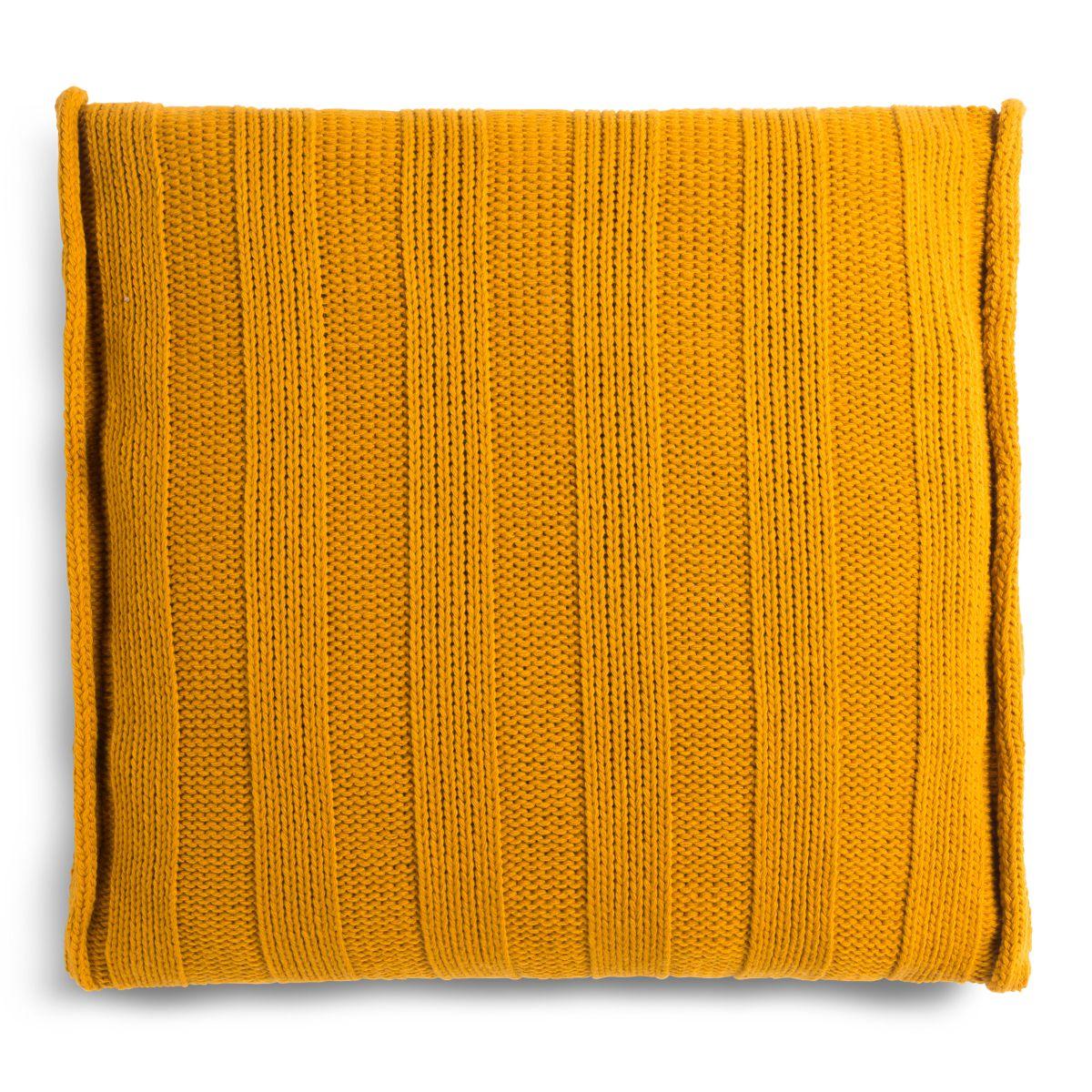 knit factory 1091217 kussen 50x50 jesse oker2