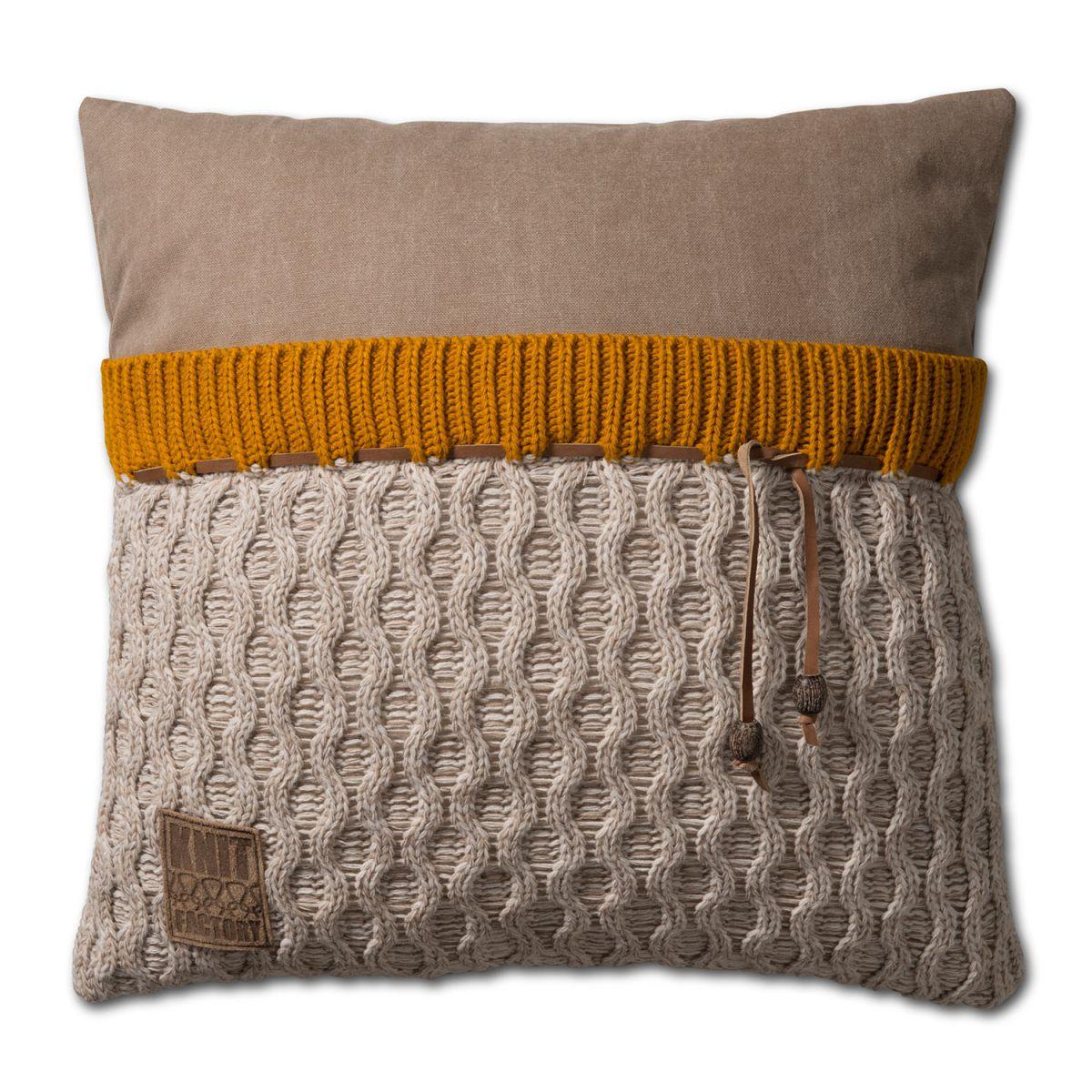 knit factory 1021202 kussen 50x50 joep beige melee