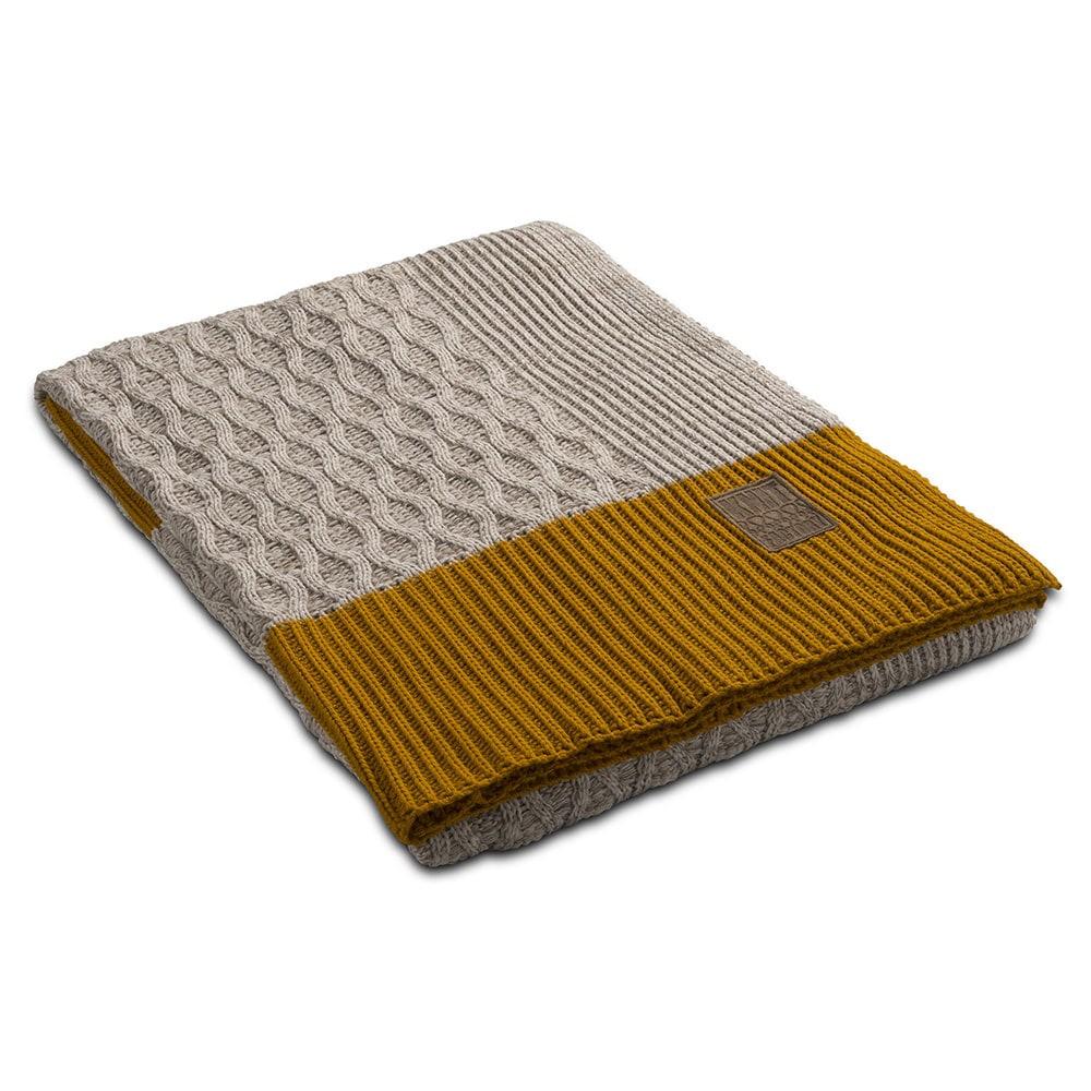 knit factory 1021102 plaid joep beige melee