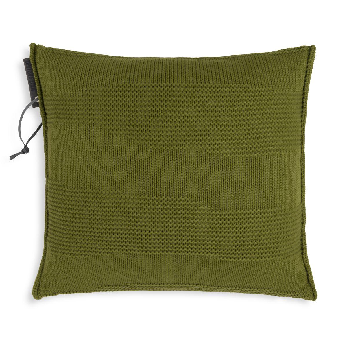 knit factory 1431215 joly kussen 50x50 mosgroen 1
