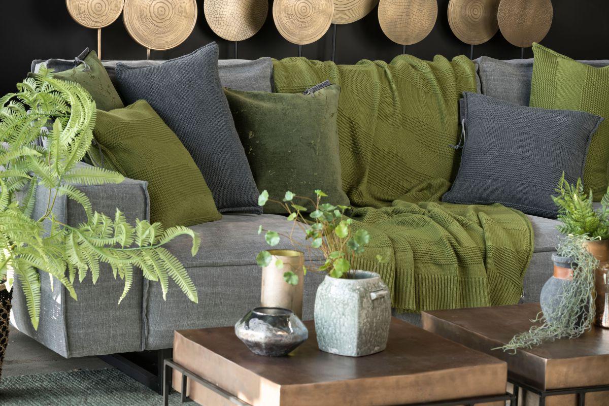 knit factory 1431215 joly kussen 50x50 mosgroen 3