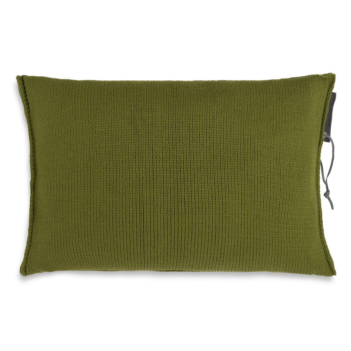 knit factory 1431315 joly kussen 60x40 mosgroen 2