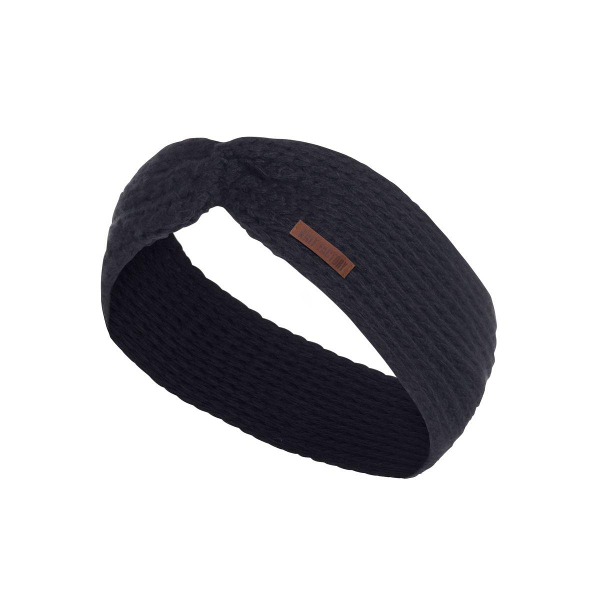 knit factory 1376926 joy hoofdband navy 1