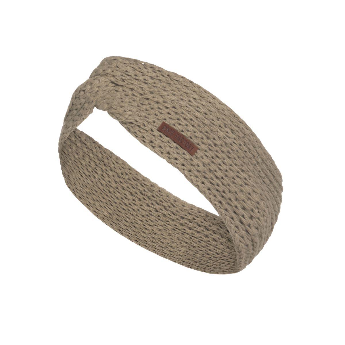 knit factory 1376933 joy hoofdband olive 1