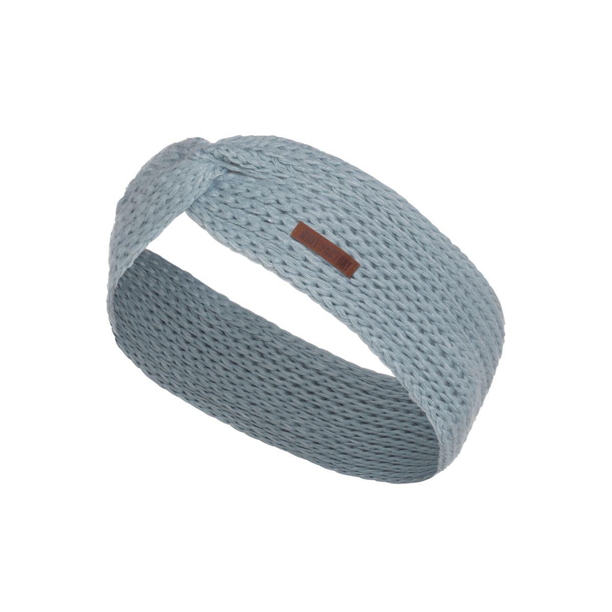 knit factory 1376909 joy hoofdband stone green 1