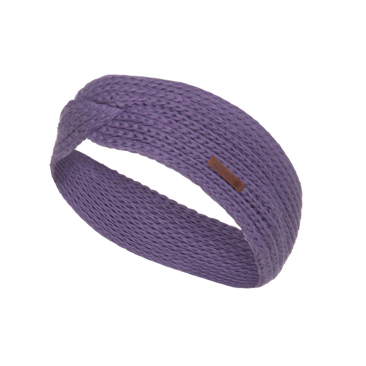 knit factory kf137069043 joy hoofdband violet 1