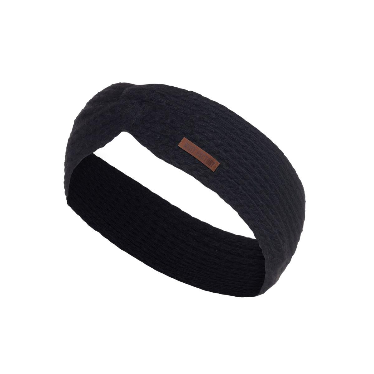 knit factory 1376900 joy hoofdband zwart 1