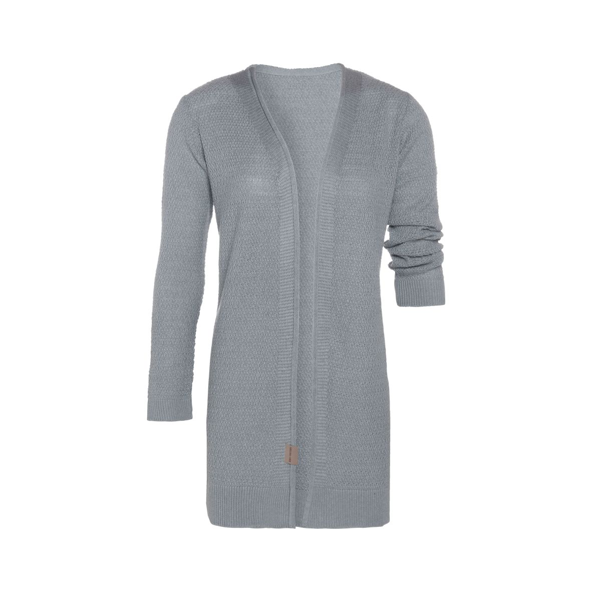 knit factory kf14108101151 june vest licht grijs 4042 1