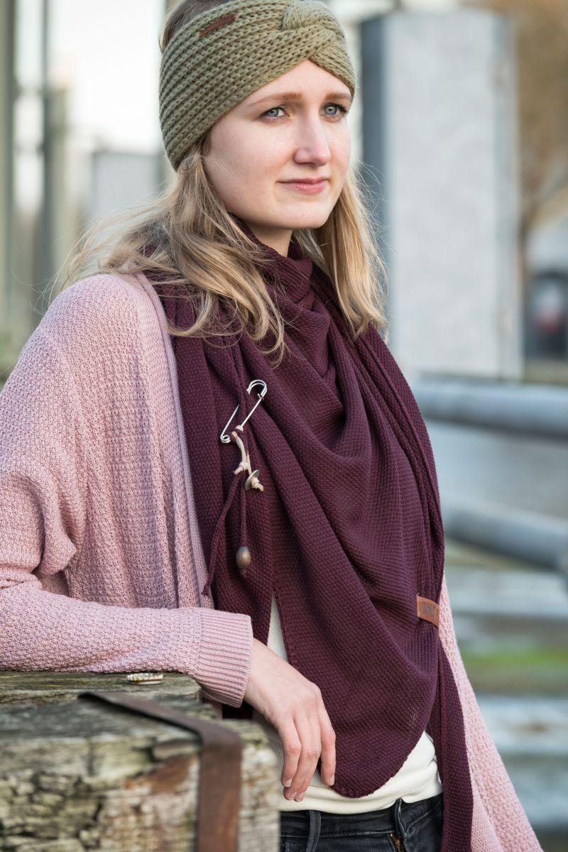 knit factory 1416222 june vest 3638 oud roze 3