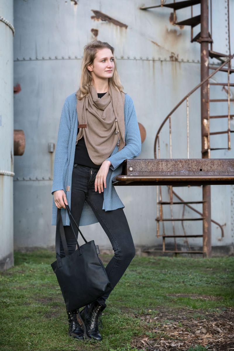 knit factory 1416205 june vest 3638 stone blue 3