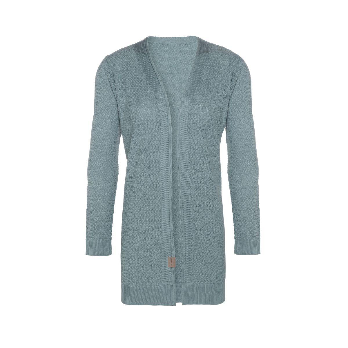 knit factory kf14108100951 emy vest stone green 4042 1