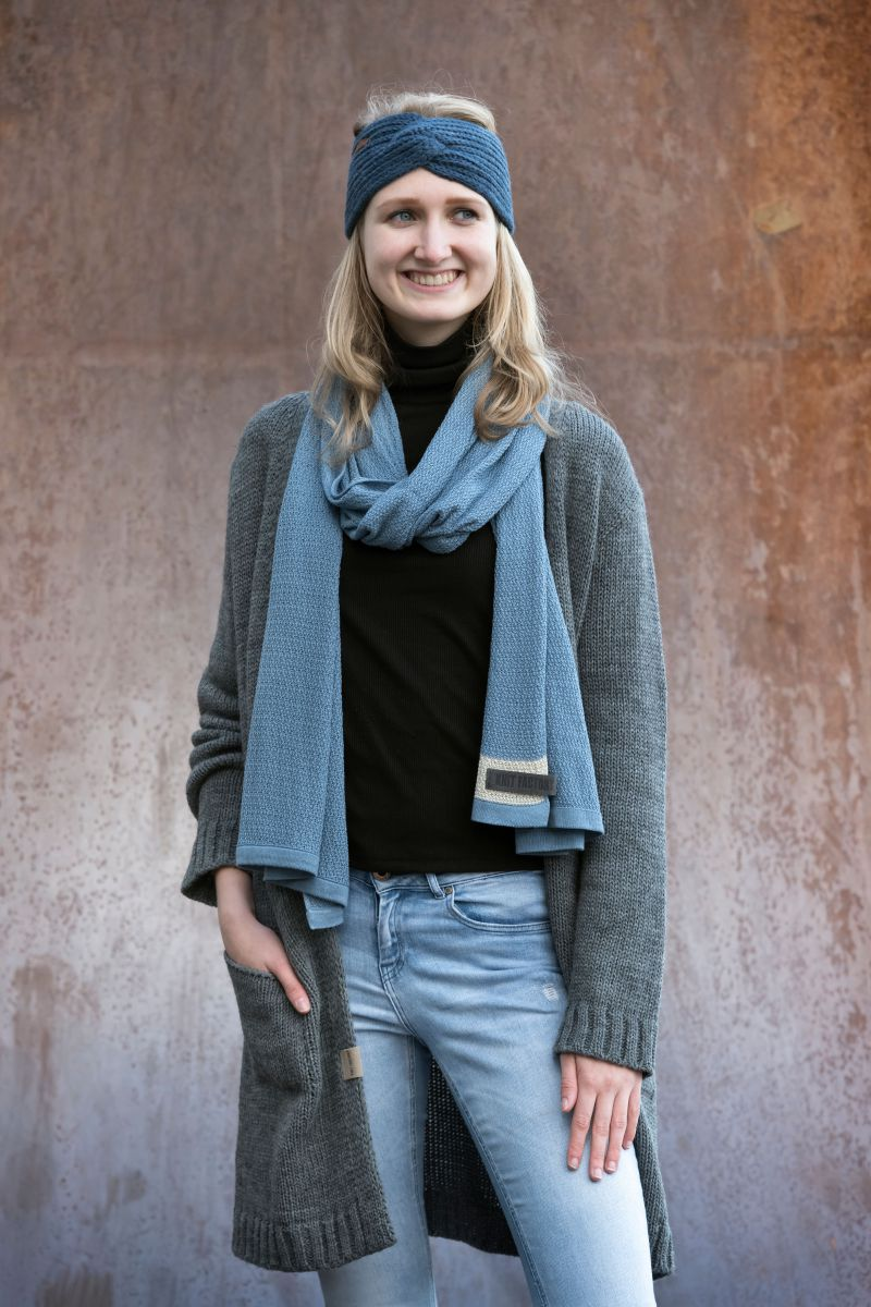 june scarf light grey
