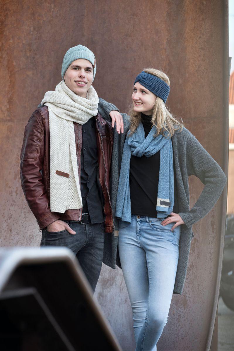 june scarf stone blue