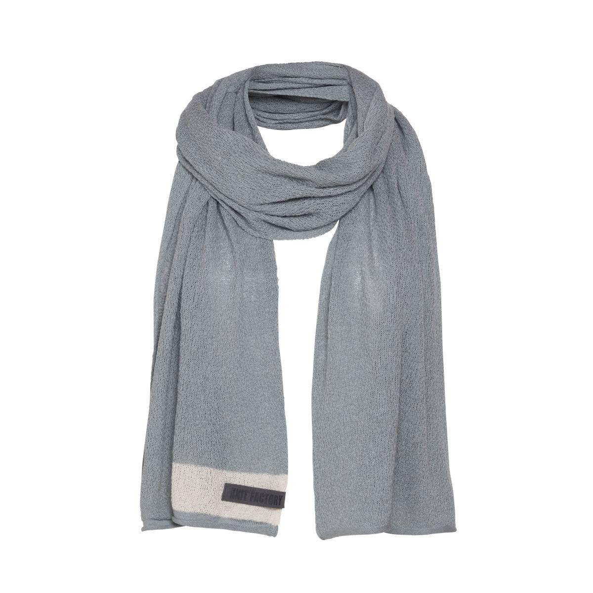 knit factory kf141065011 june sjaal licht grijs 1