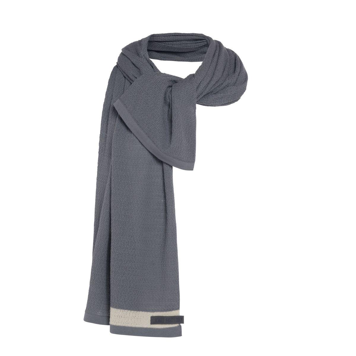 knit factory kf141065011 june sjaal licht grijs 3