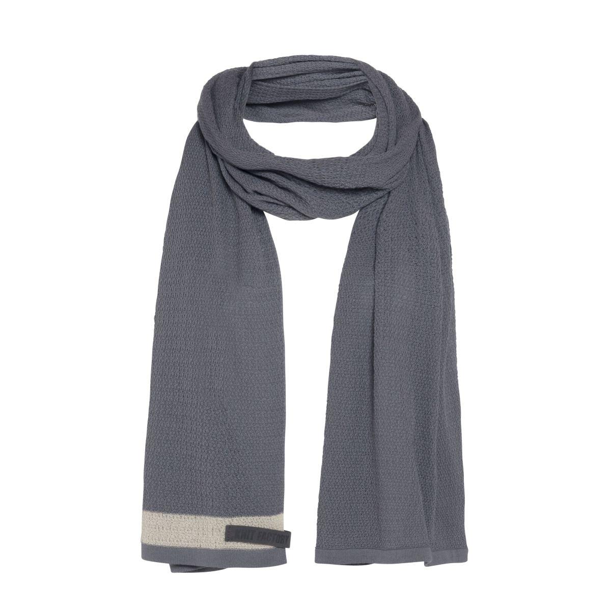 knit factory 1416506 june sjaal med grey 1