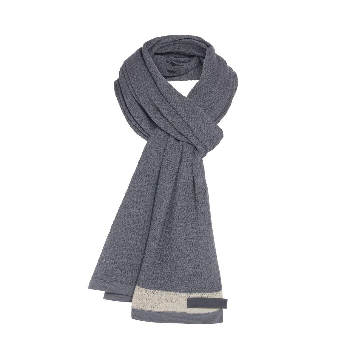 knit factory 1416505 june sjaal stone blue 2