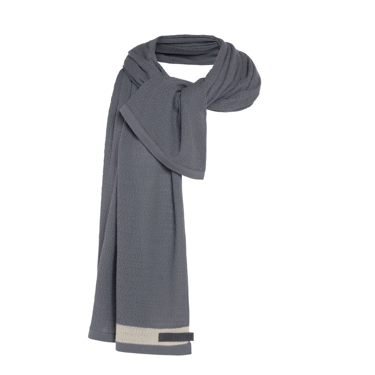 knit factory kf141065009 june sjaal stone green 3